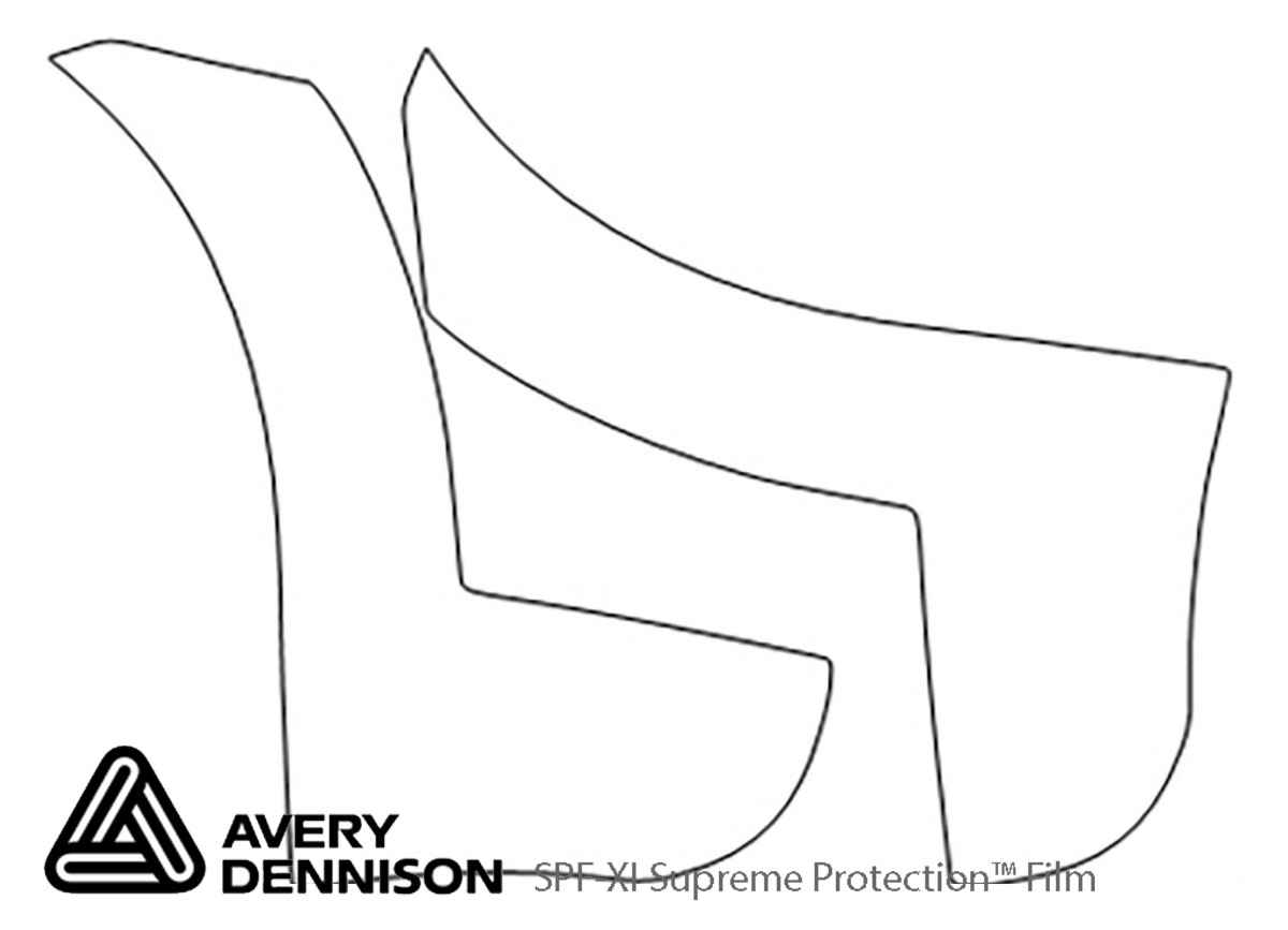 Dodge Journey 2009-2018 Avery Dennison Clear Bra Door Cup Paint Protection Kit Diagram