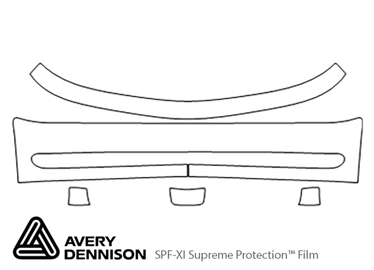 Dodge Neon 2000-2001 Avery Dennison Clear Bra Bumper Paint Protection Kit Diagram