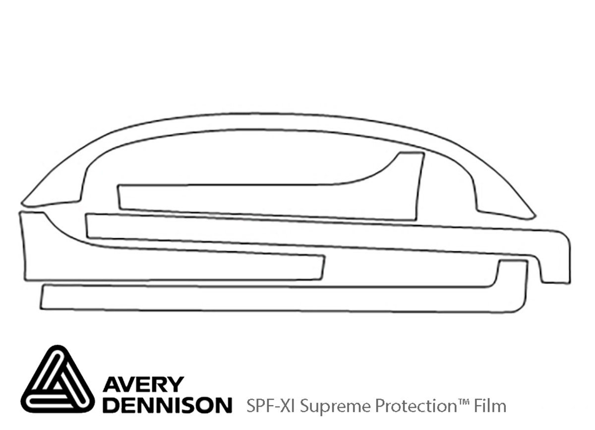 Dodge Neon 2004-2005 Avery Dennison Clear Bra Door Cup Paint Protection Kit Diagram