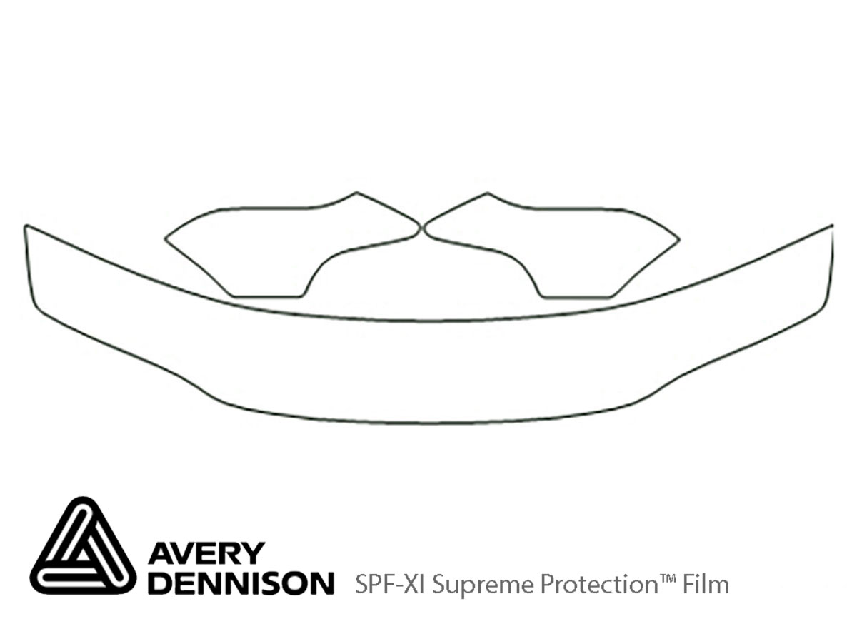 Dodge Stratus 1995-2000 Avery Dennison Clear Bra Hood Paint Protection Kit Diagram
