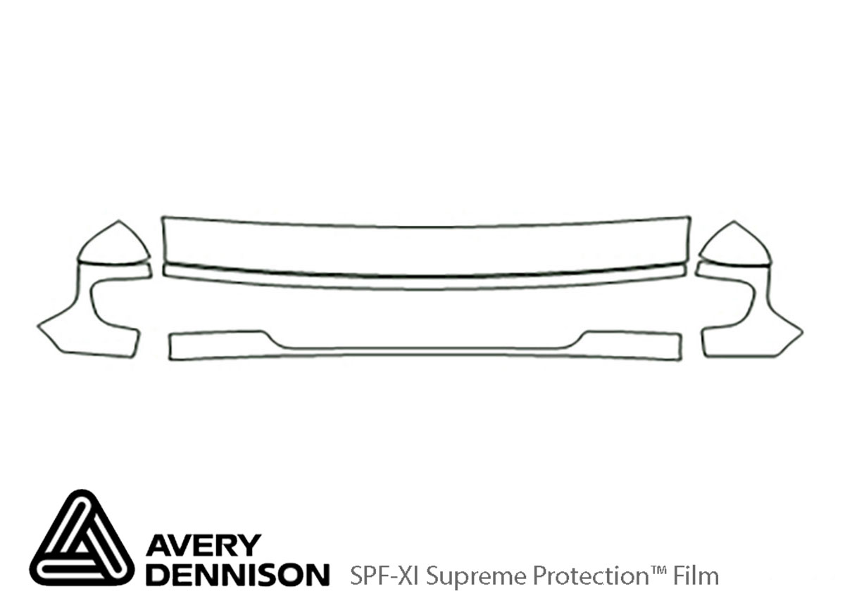 Ford E-150 2003-2007 Avery Dennison Clear Bra Hood Paint Protection Kit Diagram