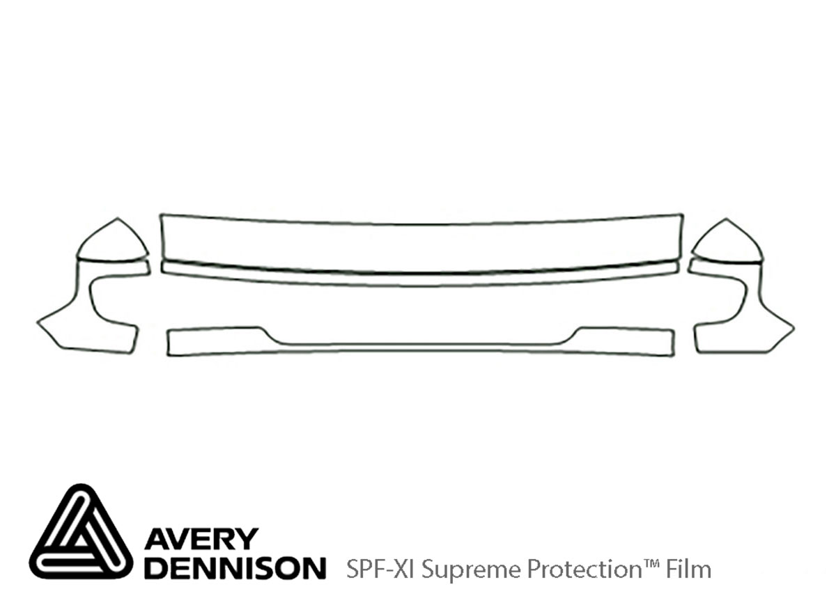 Ford E-350 2003-2007 Avery Dennison Clear Bra Hood Paint Protection Kit Diagram