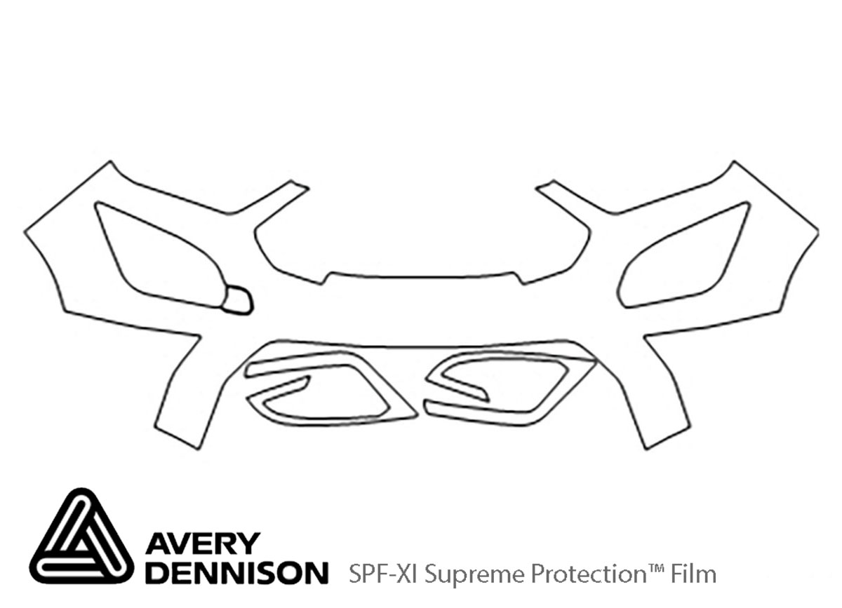 Ford Ecosport 2018-2021 Avery Dennison Clear Bra Bumper Paint Protection Kit Diagram