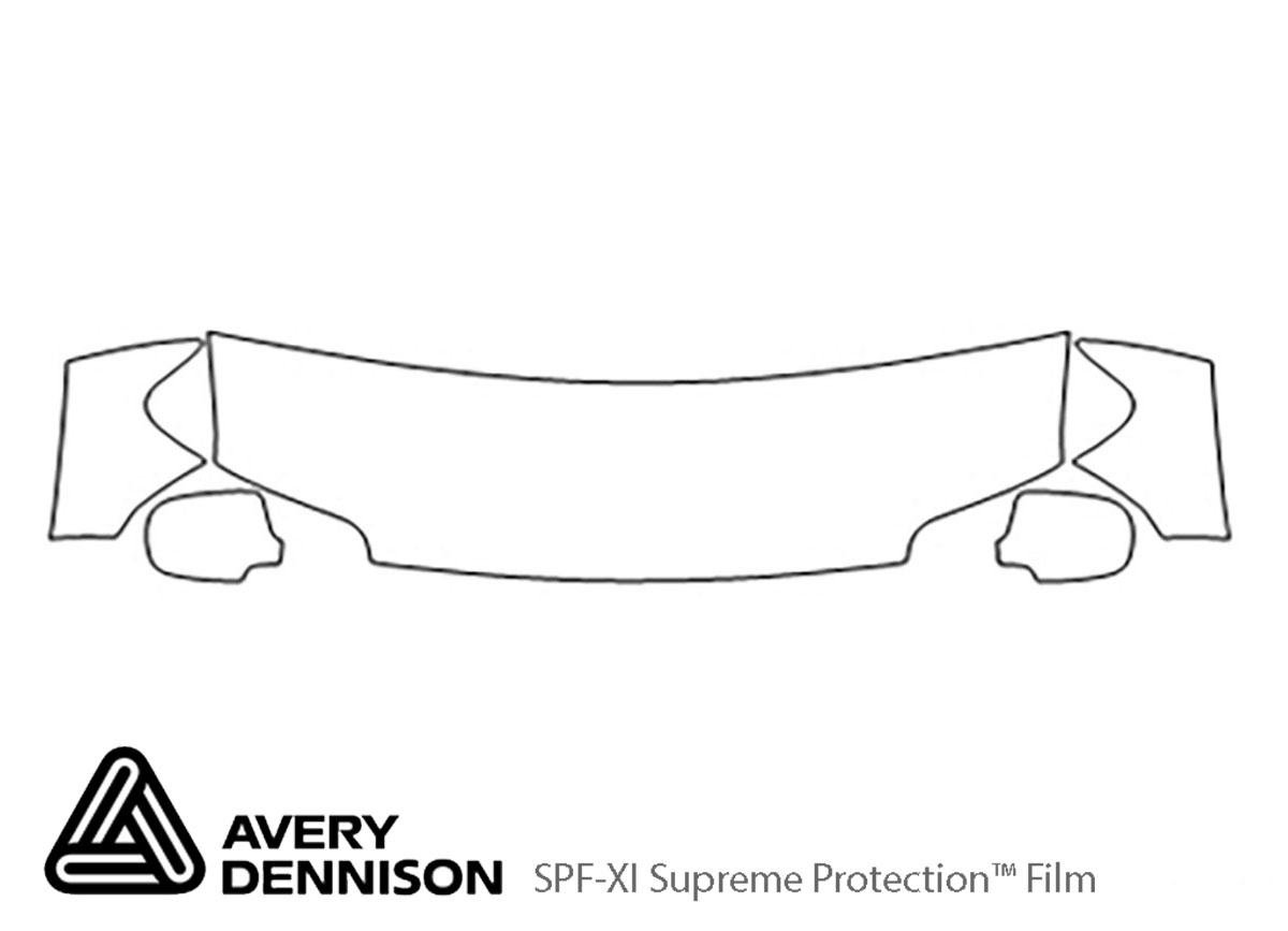Ford Escape 2005-2007 Avery Dennison Clear Bra Hood Paint Protection Kit Diagram