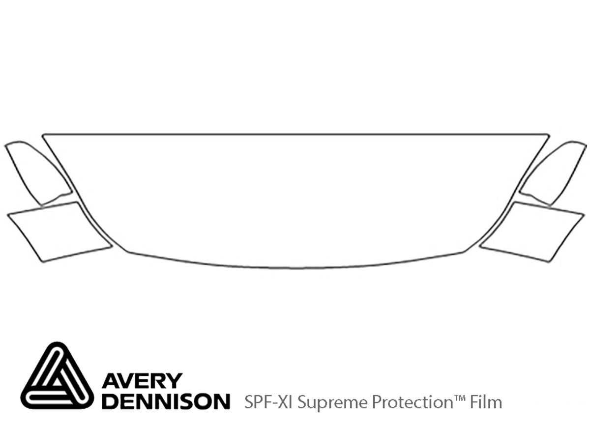 Ford Escape 2013-2016 Avery Dennison Clear Bra Hood Paint Protection Kit Diagram