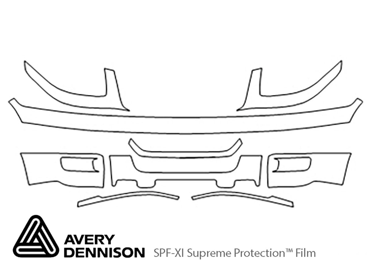 Ford Expedition 2003-2006 Avery Dennison Clear Bra Bumper Paint Protection Kit Diagram