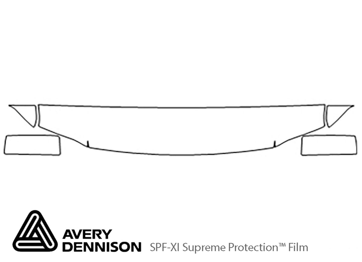 Ford Expedition 2003-2006 Avery Dennison Clear Bra Hood Paint Protection Kit Diagram