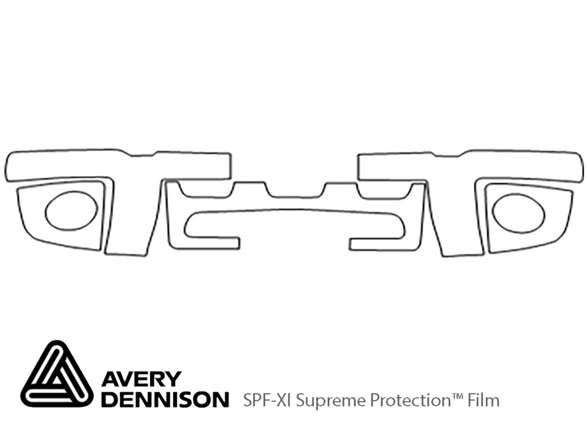 Ford Explorer 1998-2001 Avery Dennison Clear Bra Bumper Paint Protection Kit Diagram
