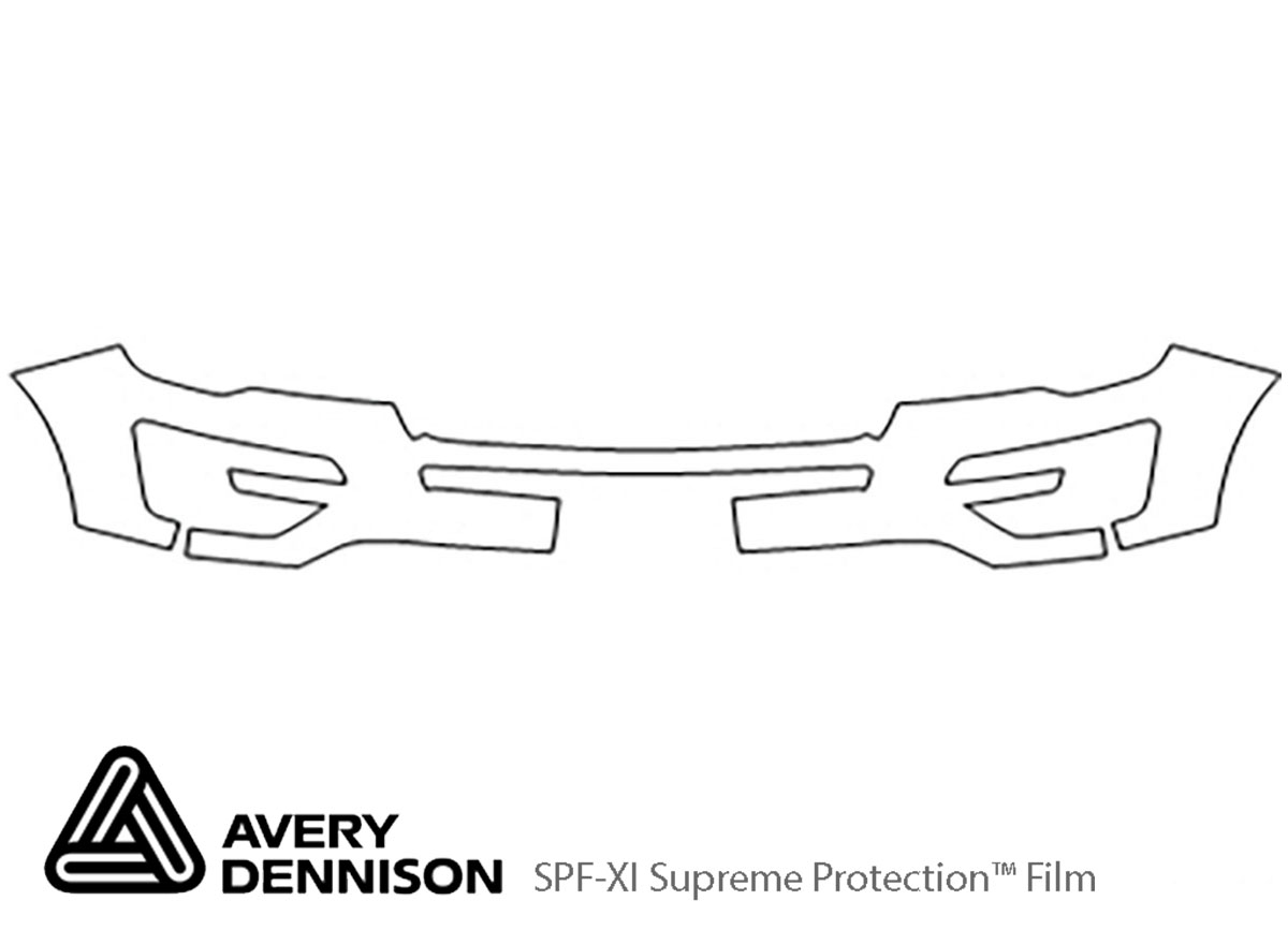 Ford Explorer 2016-2017 Avery Dennison Clear Bra Bumper Paint Protection Kit Diagram