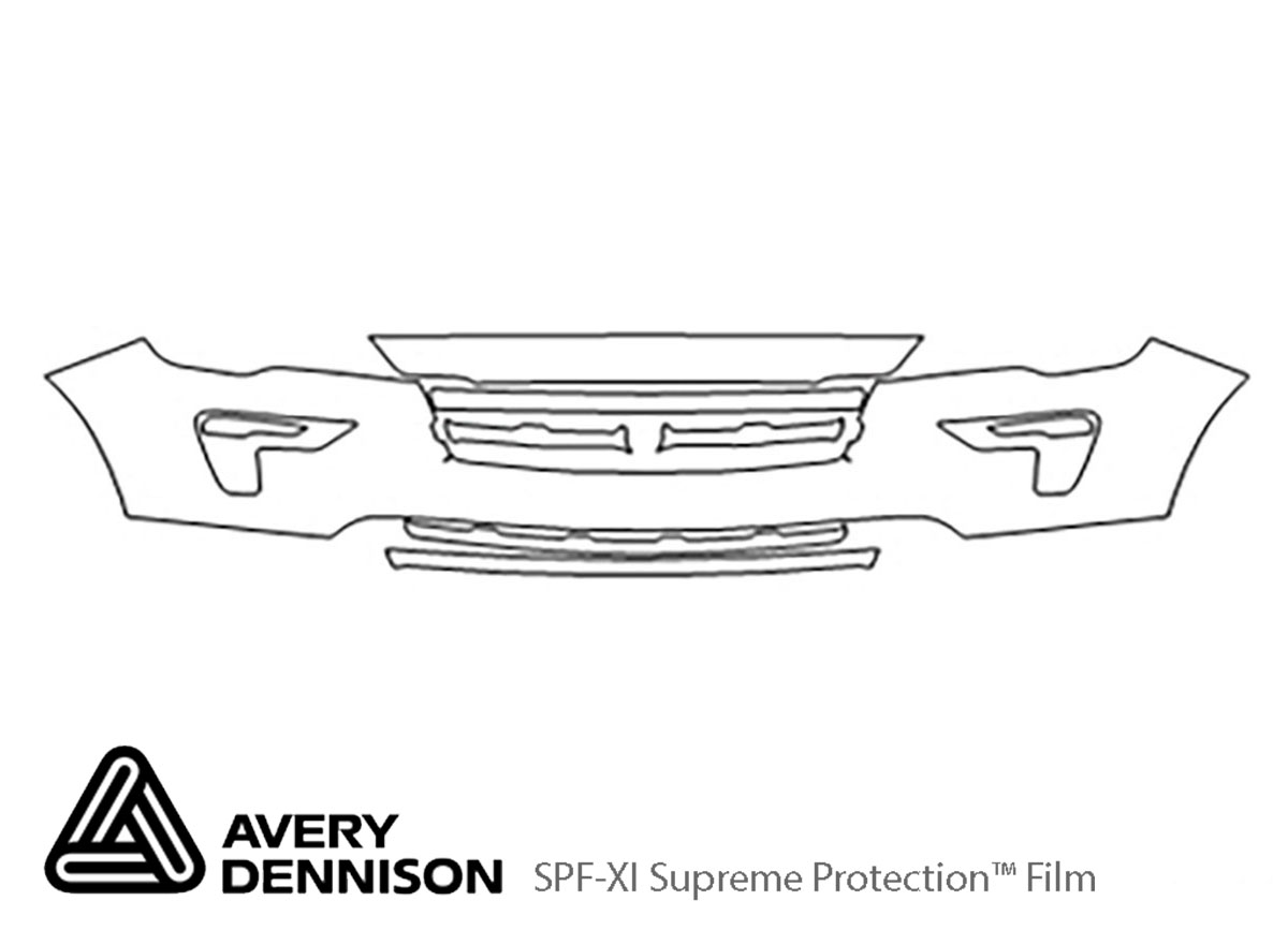 Ford Explorer 2018-2019 Avery Dennison Clear Bra Bumper Paint Protection Kit Diagram