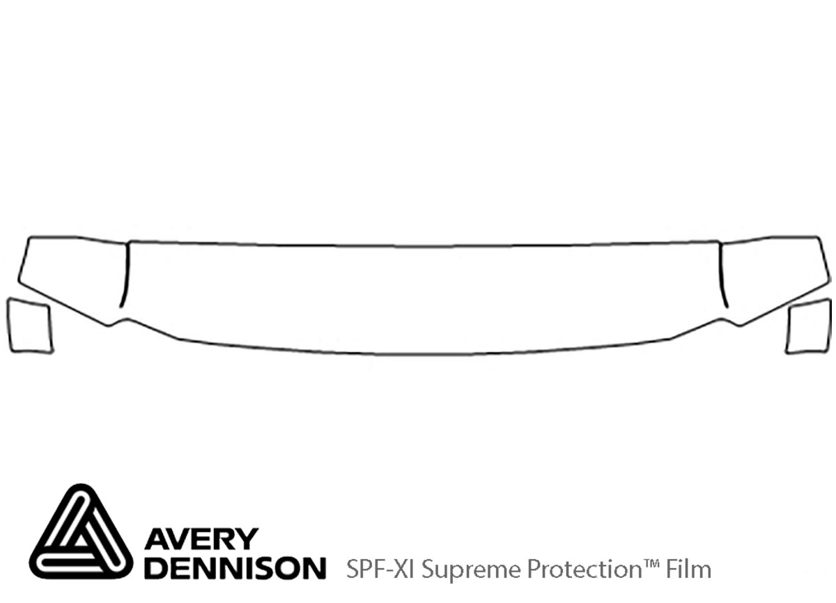 Ford F-350 1999-2007 Avery Dennison Clear Bra Hood Paint Protection Kit Diagram