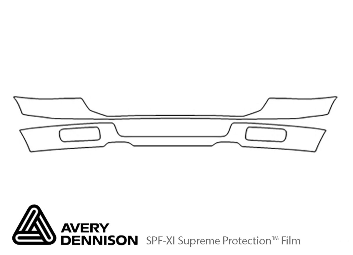 Ford F-350 2003-2007 Avery Dennison Clear Bra Bumper Paint Protection Kit Diagram