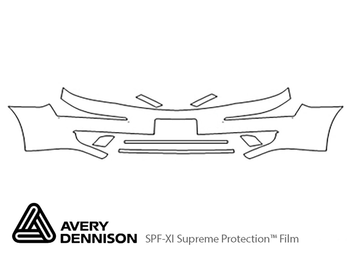 Ford Five Hundred 2005-2007 Avery Dennison Clear Bra Bumper Paint Protection Kit Diagram