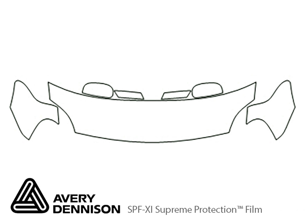Ford Five Hundred 2005-2007 Avery Dennison Clear Bra Hood Paint Protection Kit Diagram