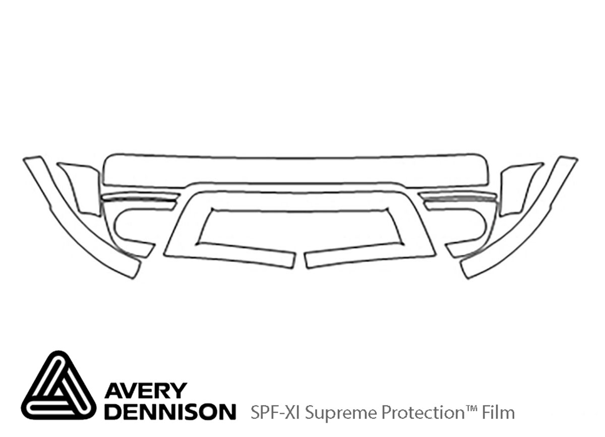 Ford Freestyle 2005-2007 Avery Dennison Clear Bra Bumper Paint Protection Kit Diagram