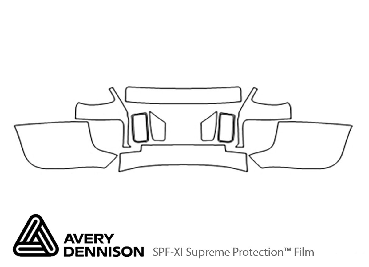Ford GT 2005-2006 Avery Dennison Clear Bra Bumper Paint Protection Kit Diagram
