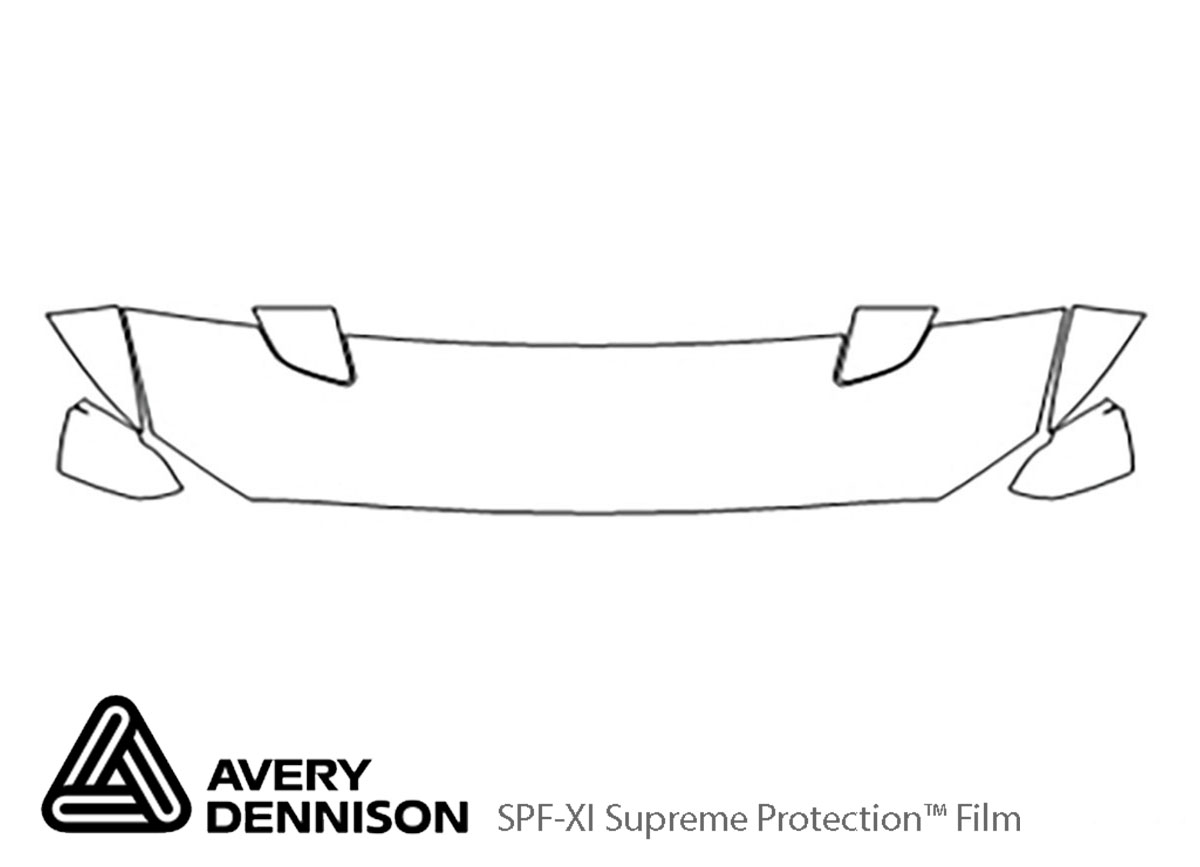 Ford Mustang 2015-2017 Avery Dennison Clear Bra Hood Paint Protection Kit Diagram