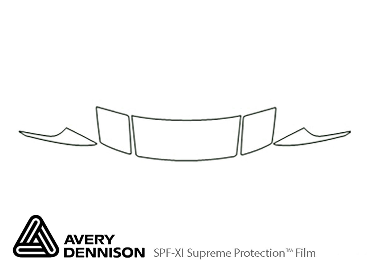 Ford Probe 1993-1997 Avery Dennison Clear Bra Hood Paint Protection Kit Diagram