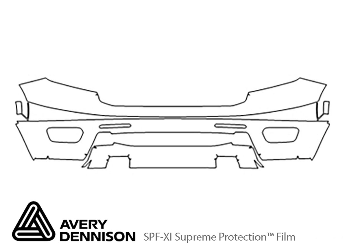 Ford Ranger 2019-2021 Avery Dennison Clear Bra Bumper Paint Protection Kit Diagram