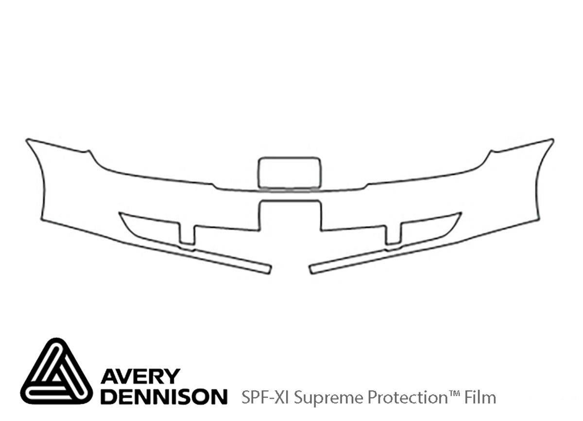 Ford Taurus 2008-2009 Avery Dennison Clear Bra Bumper Paint Protection Kit Diagram
