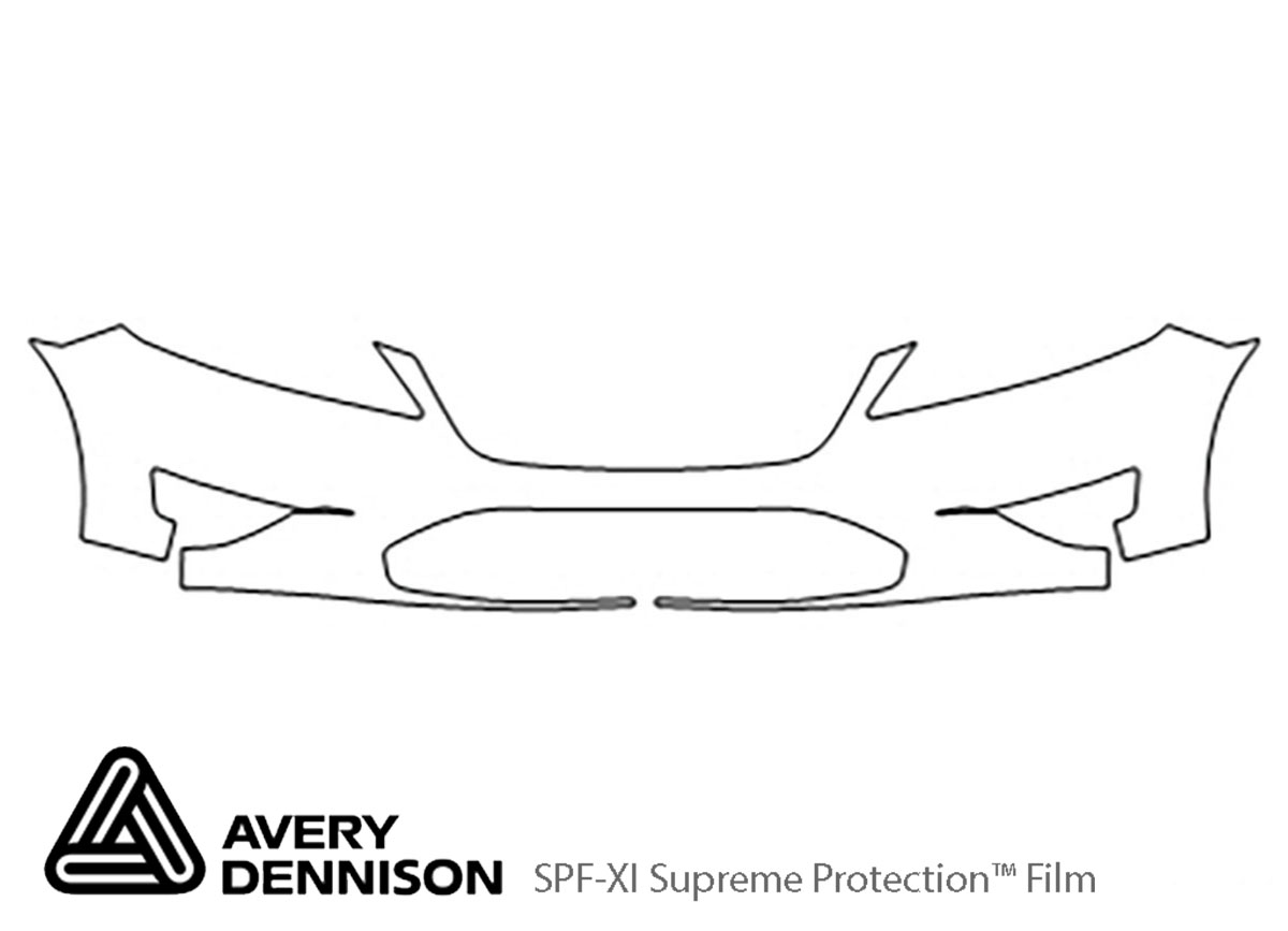 Ford Taurus 2010-2012 Avery Dennison Clear Bra Bumper Paint Protection Kit Diagram