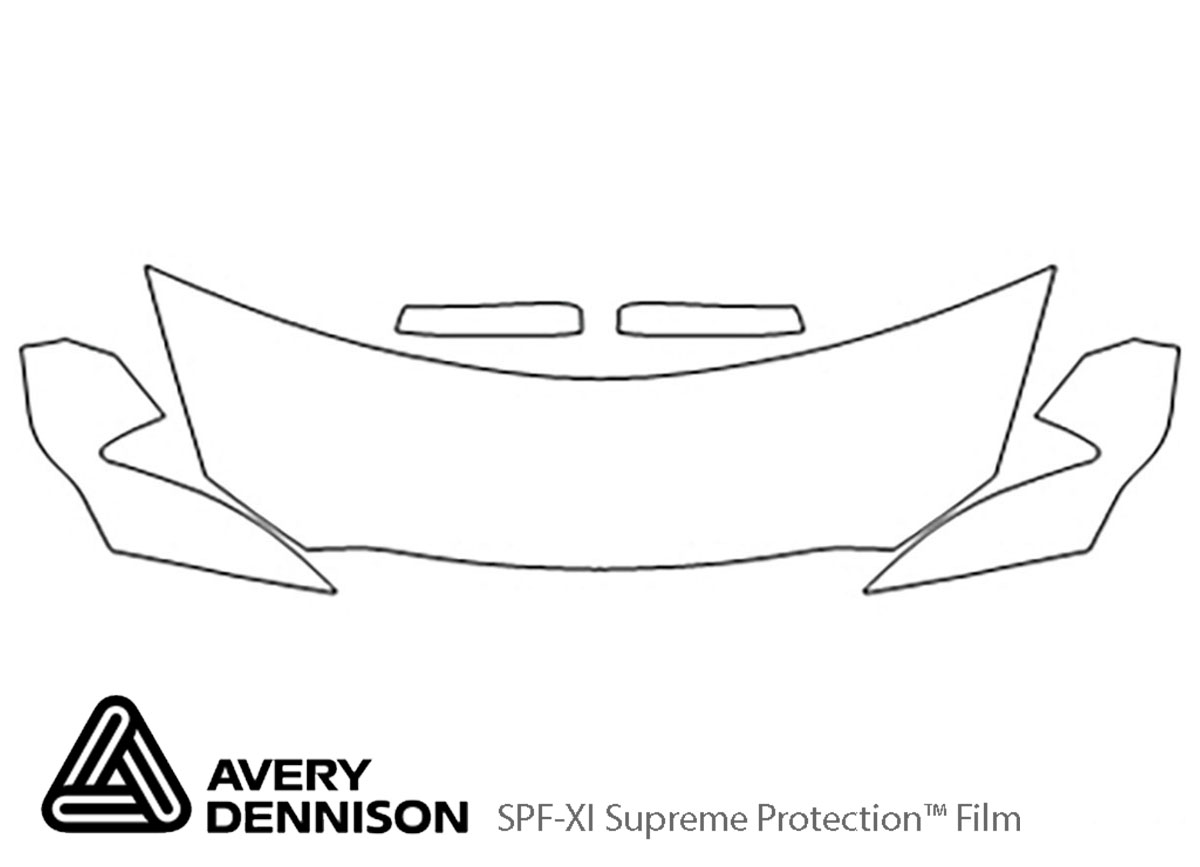 Ford Taurus 2010-2012 Avery Dennison Clear Bra Hood Paint Protection Kit Diagram