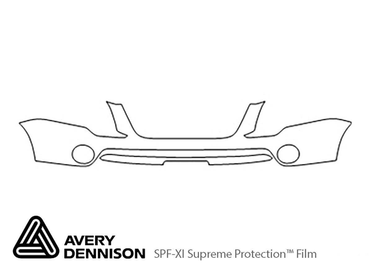 GMC Acadia 2007-2012 Avery Dennison Clear Bra Bumper Paint Protection Kit Diagram