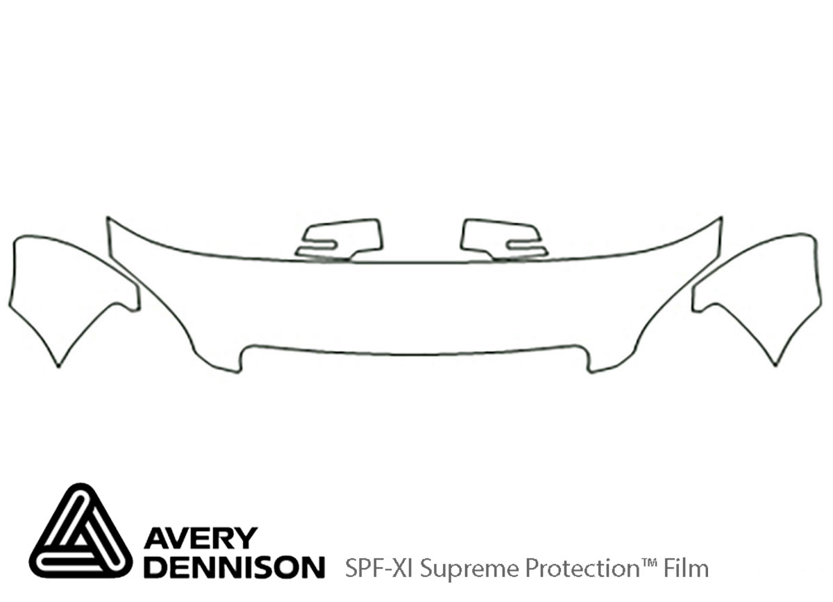 GMC Acadia 2007-2012 Avery Dennison Clear Bra Hood Paint Protection Kit Diagram