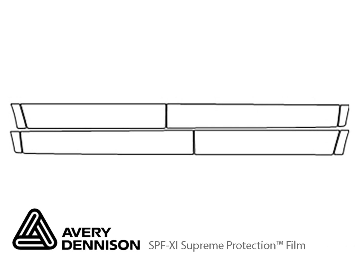 GMC Acadia 2007-2012 Avery Dennison Clear Bra Door Cup Paint Protection Kit Diagram