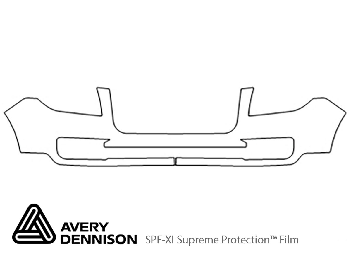 GMC Acadia 2013-2016 Avery Dennison Clear Bra Bumper Paint Protection Kit Diagram