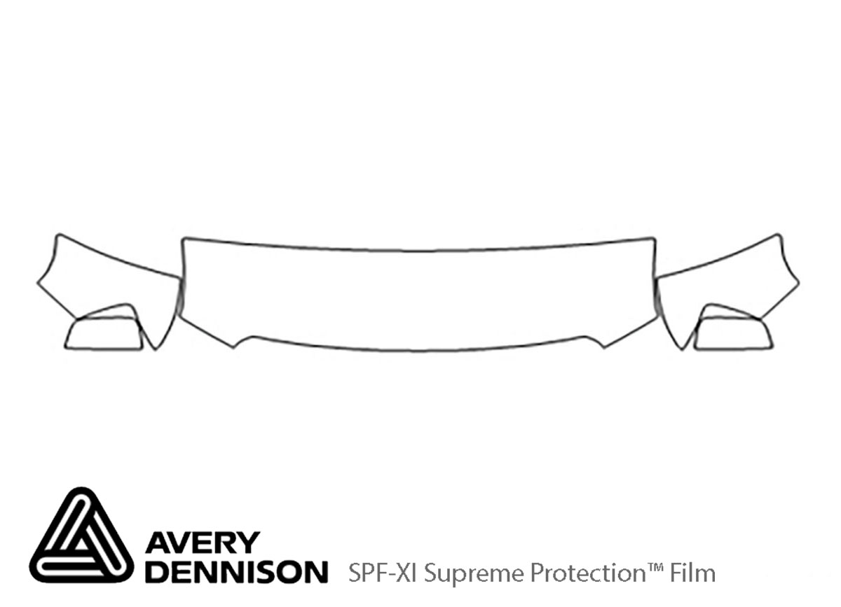 GMC Canyon 2015-2020 Avery Dennison Clear Bra Hood Paint Protection Kit Diagram