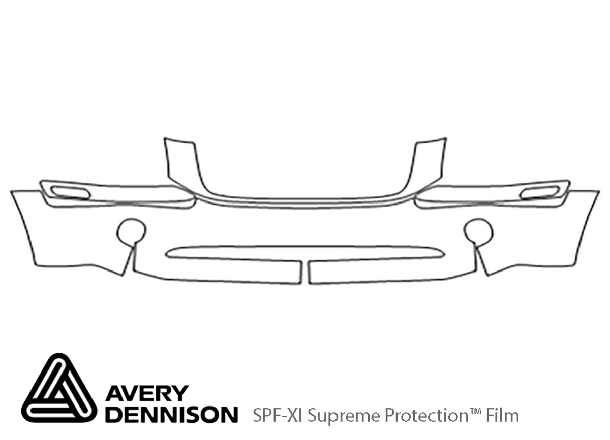 GMC Envoy 2002-2009 Avery Dennison Clear Bra Bumper Paint Protection Kit Diagram