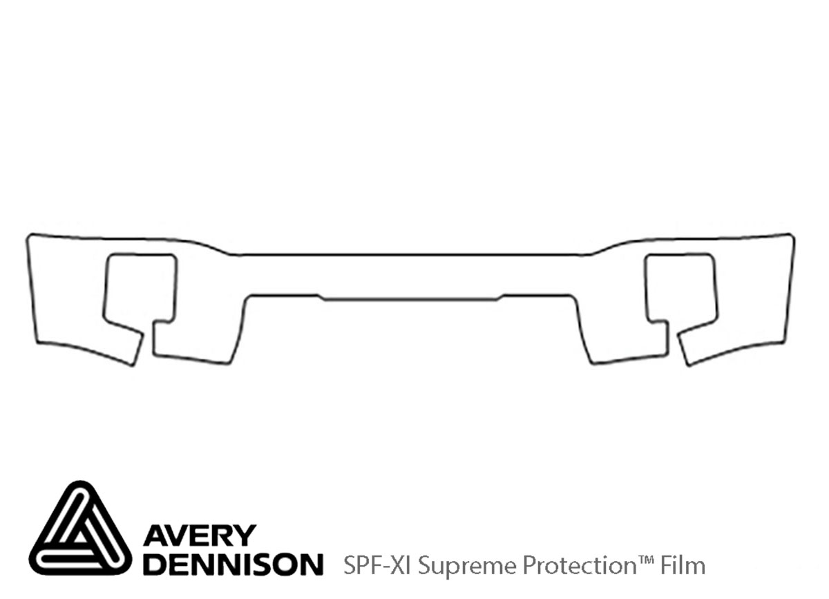 GMC Sierra 2014-2015 Avery Dennison Clear Bra Bumper Paint Protection Kit Diagram