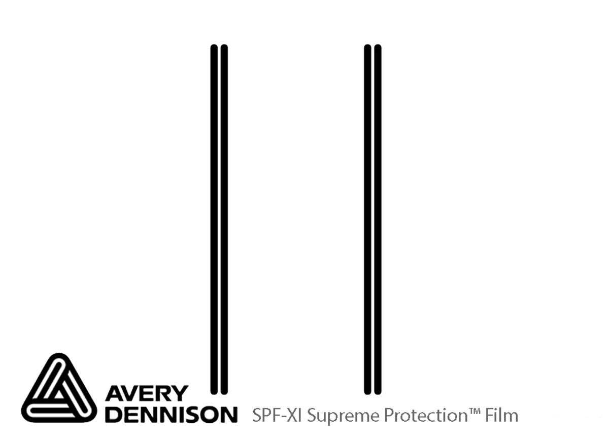 GMC Sierra 2014-2015 Avery Dennison Clear Bra Door Cup Paint Protection Kit Diagram