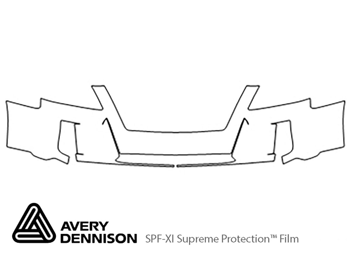 GMC Terrain 2010-2015 Avery Dennison Clear Bra Bumper Paint Protection Kit Diagram