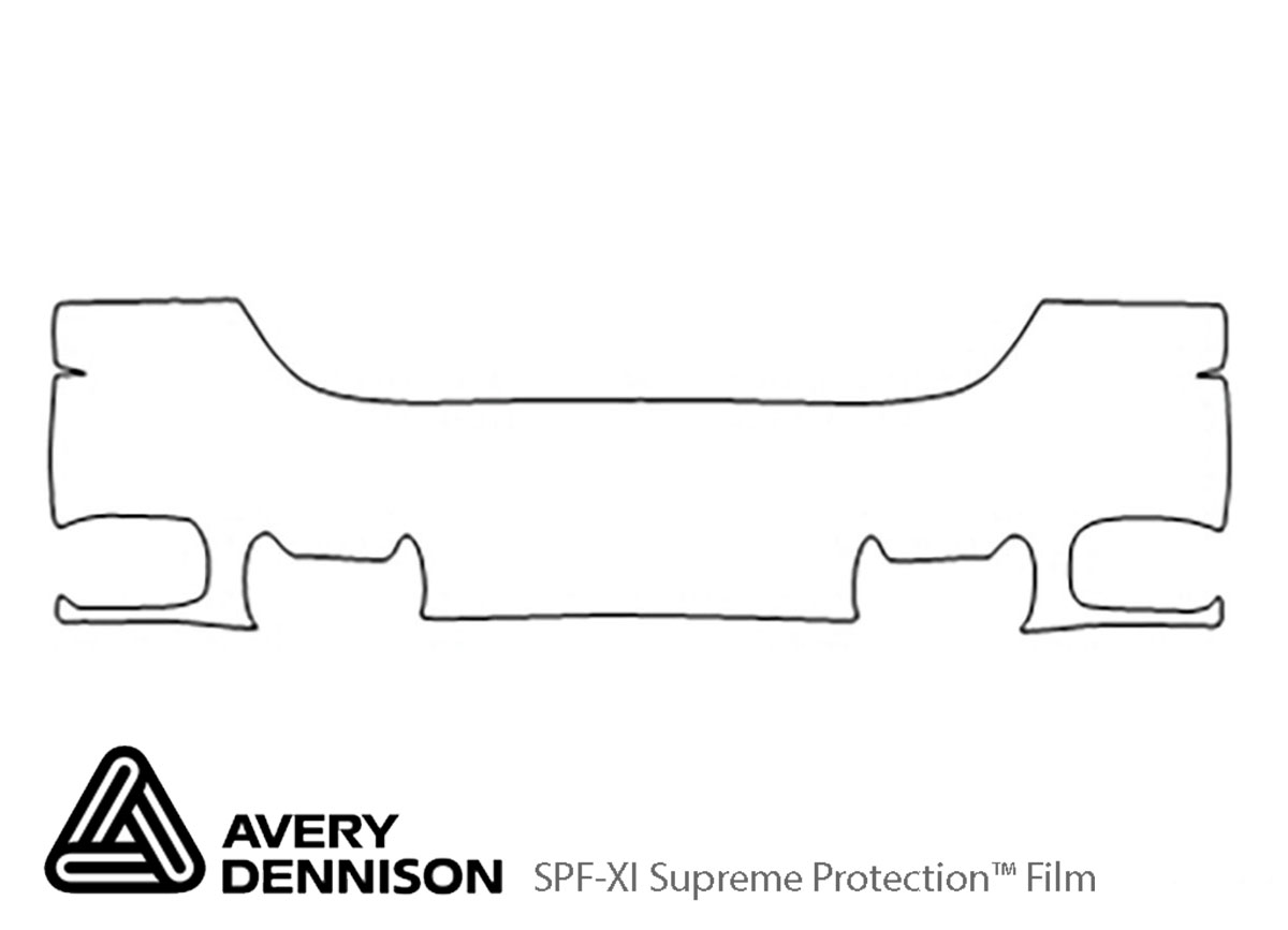 GMC Yukon 1999-2000 Avery Dennison Clear Bra Bumper Paint Protection Kit Diagram