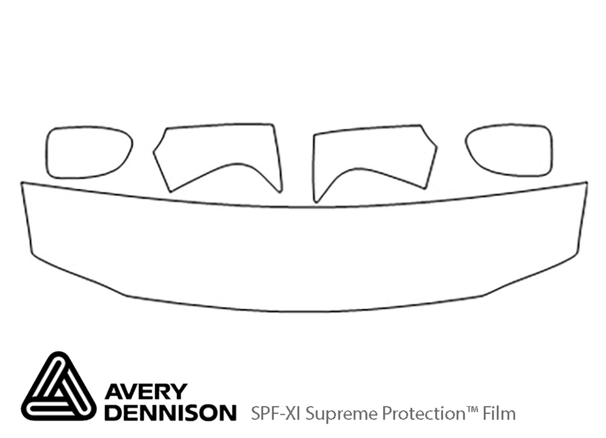 GMC Yukon 2000-2006 Avery Dennison Clear Bra Hood Paint Protection Kit Diagram