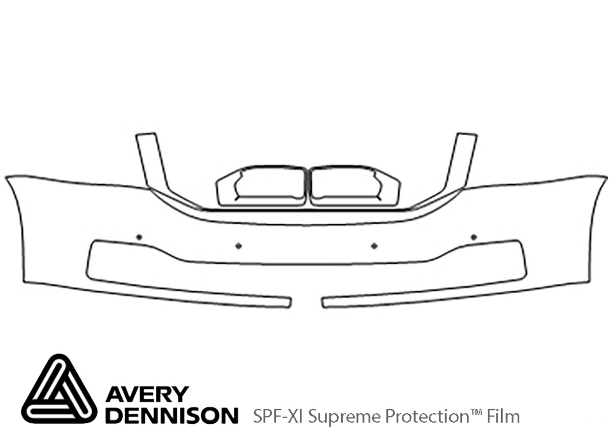 GMC Yukon 2015-2020 Avery Dennison Clear Bra Bumper Paint Protection Kit Diagram