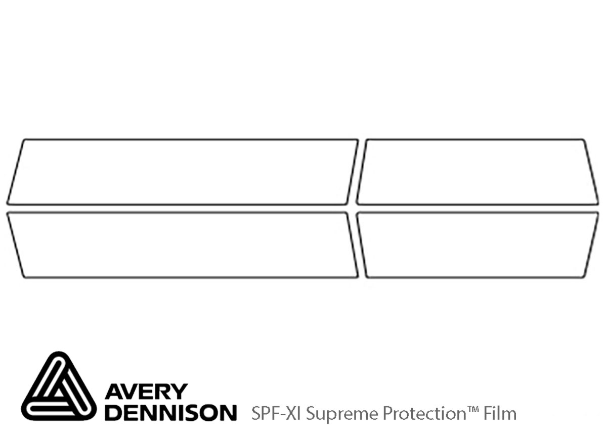 GMC Yukon 2015-2020 Avery Dennison Clear Bra Door Cup Paint Protection Kit Diagram