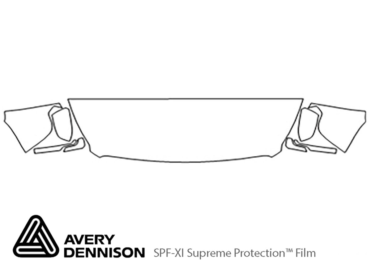 GMC Yukon 2015-2020 Avery Dennison Clear Bra Hood Paint Protection Kit Diagram