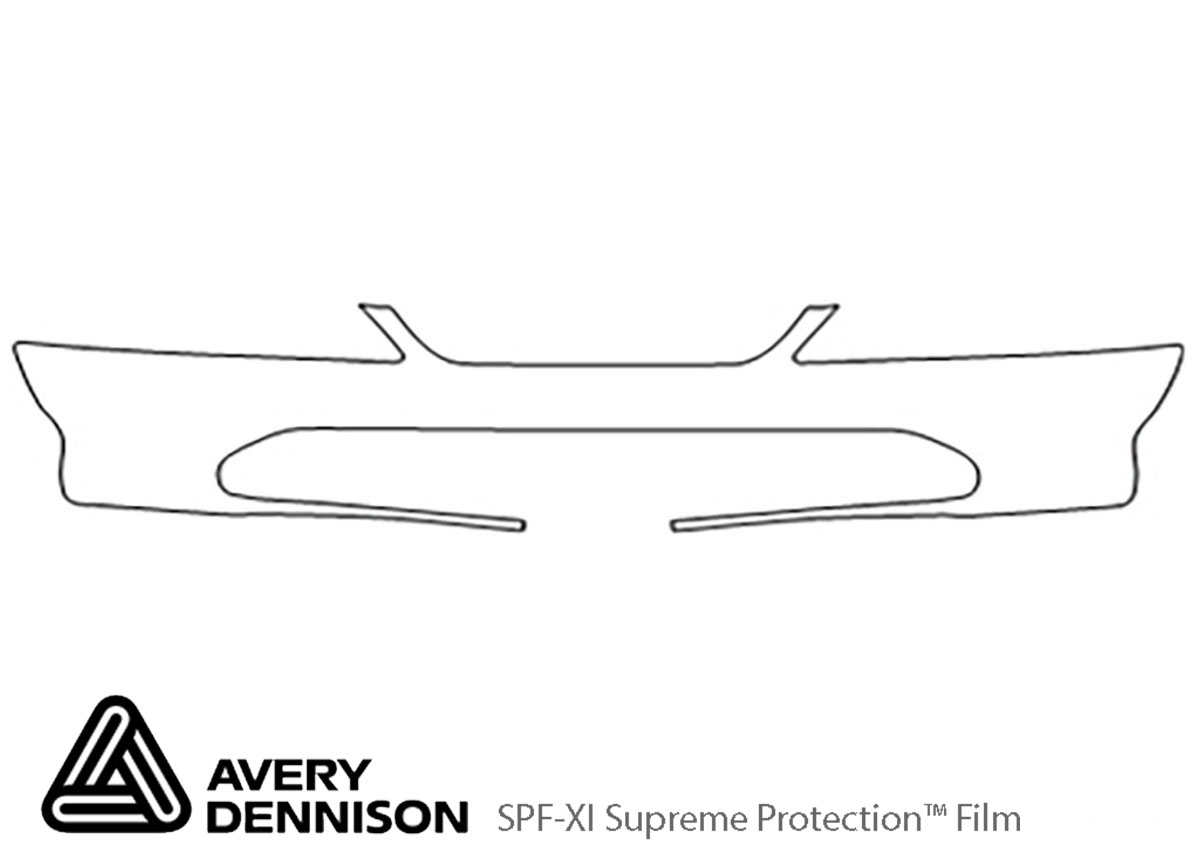 Honda Accord 1998-2000 Avery Dennison Clear Bra Bumper Paint Protection Kit Diagram