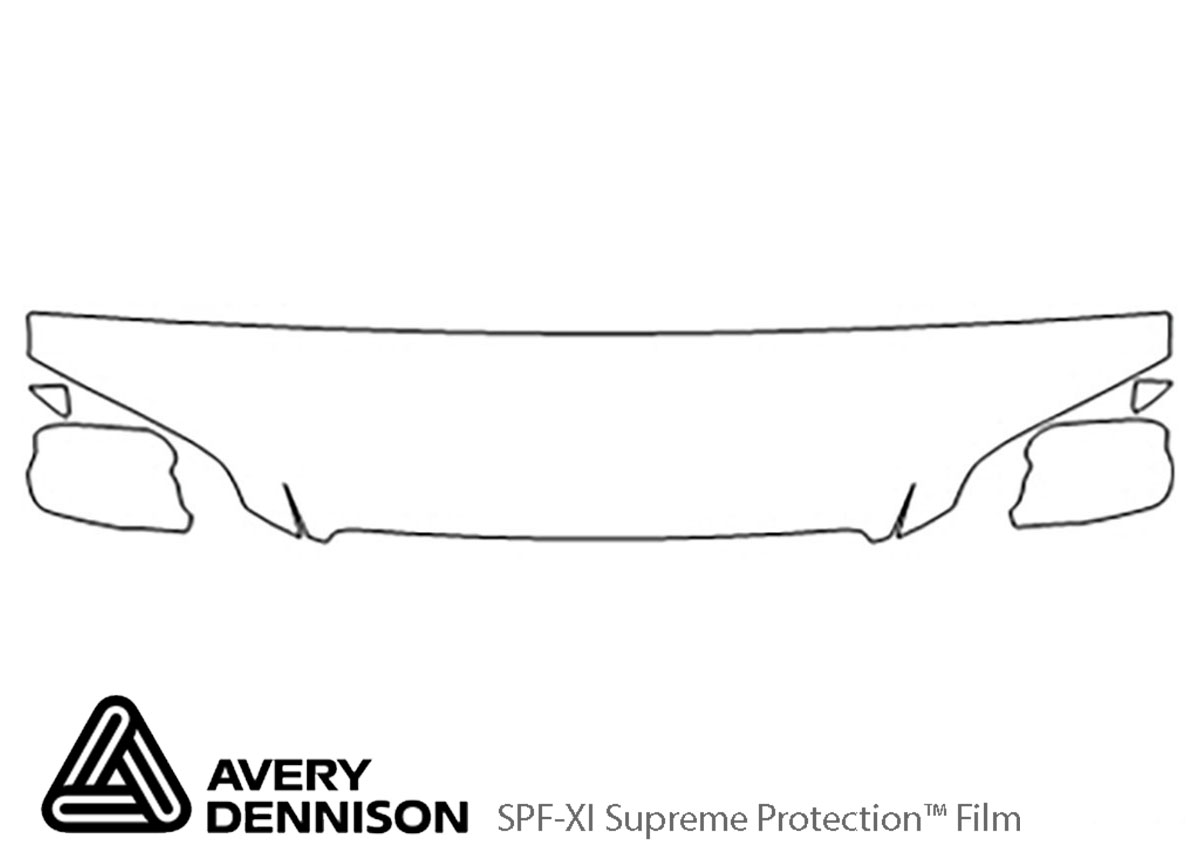 Honda Accord 1998-2002 Avery Dennison Clear Bra Hood Paint Protection Kit Diagram