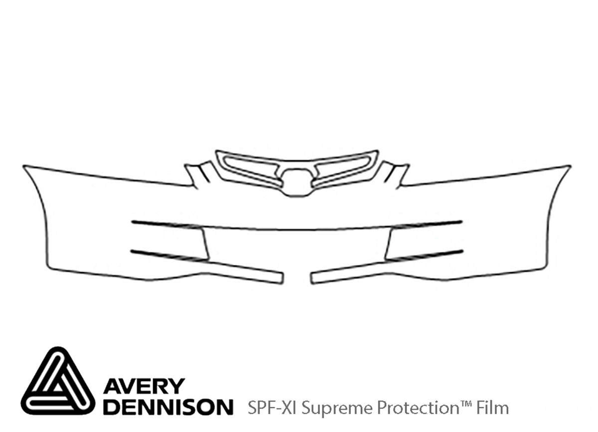 Honda Accord 2003-2005 Avery Dennison Clear Bra Bumper Paint Protection Kit Diagram