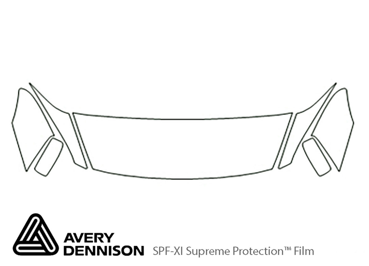 Honda Accord 2003-2007 Avery Dennison Clear Bra Hood Paint Protection Kit Diagram
