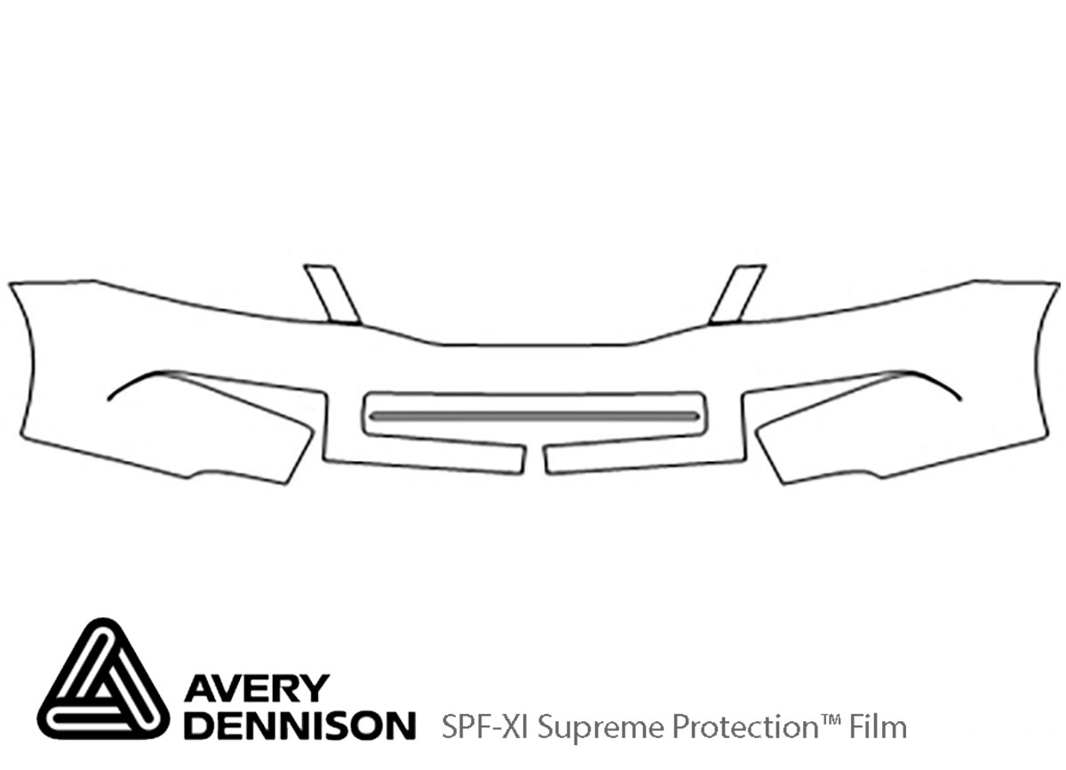 Honda Accord 2008-2012 Avery Dennison Clear Bra Bumper Paint Protection Kit Diagram