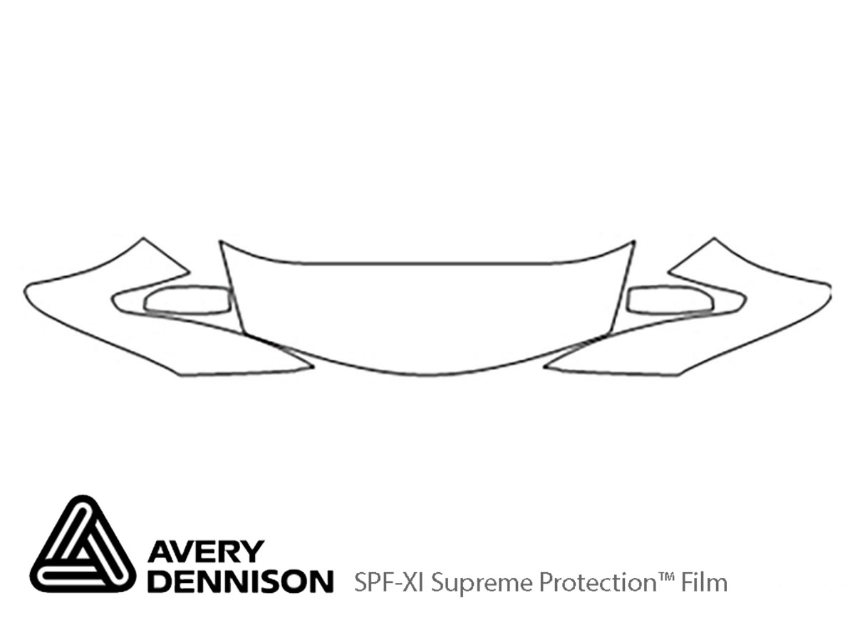 Honda Accord 2008-2012 Avery Dennison Clear Bra Hood Paint Protection Kit Diagram