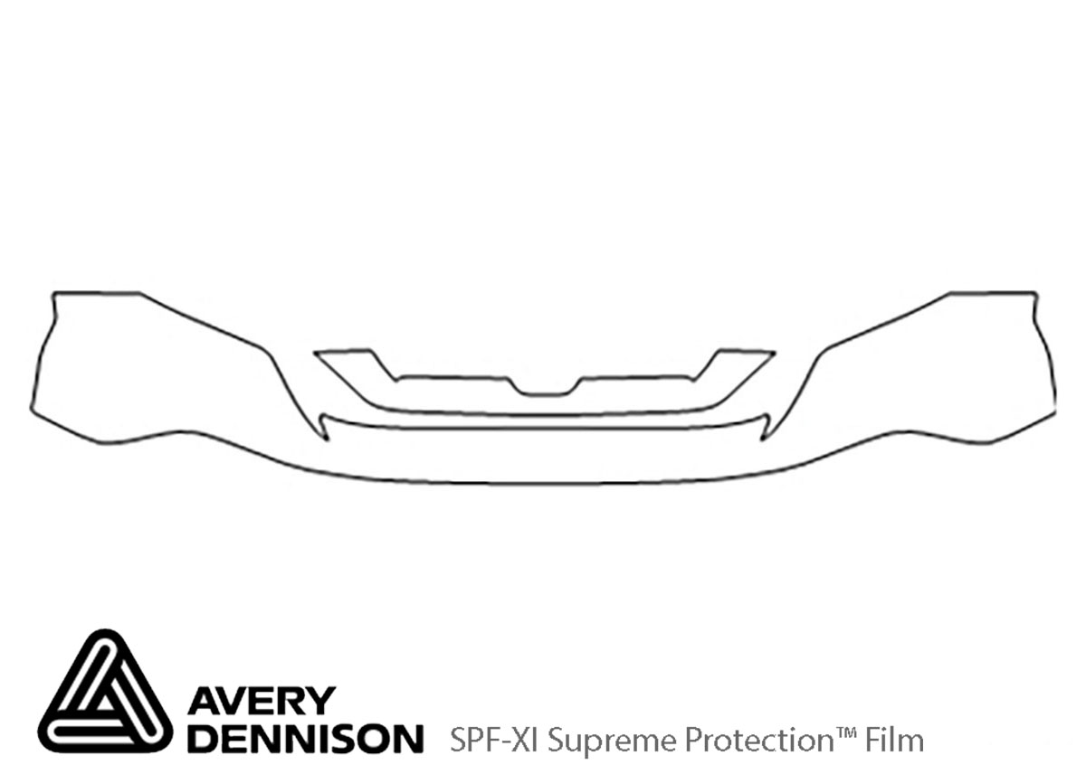 Honda CR-V 2007-2009 Avery Dennison Clear Bra Bumper Paint Protection Kit Diagram