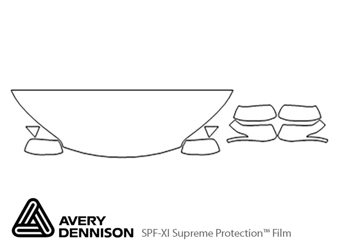 Honda CR-V 2012-2016 Avery Dennison Clear Bra Hood Paint Protection Kit Diagram