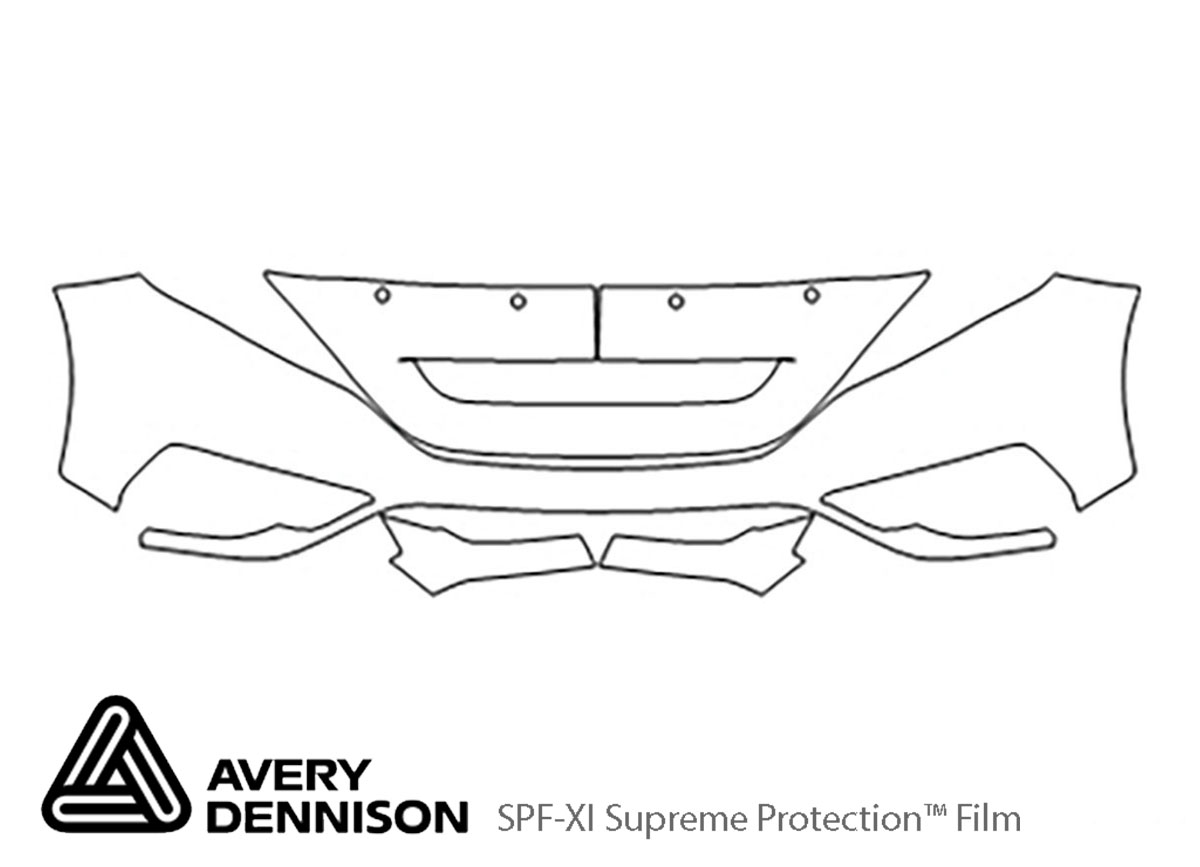 Honda CR-V 2015-2016 Avery Dennison Clear Bra Bumper Paint Protection Kit Diagram