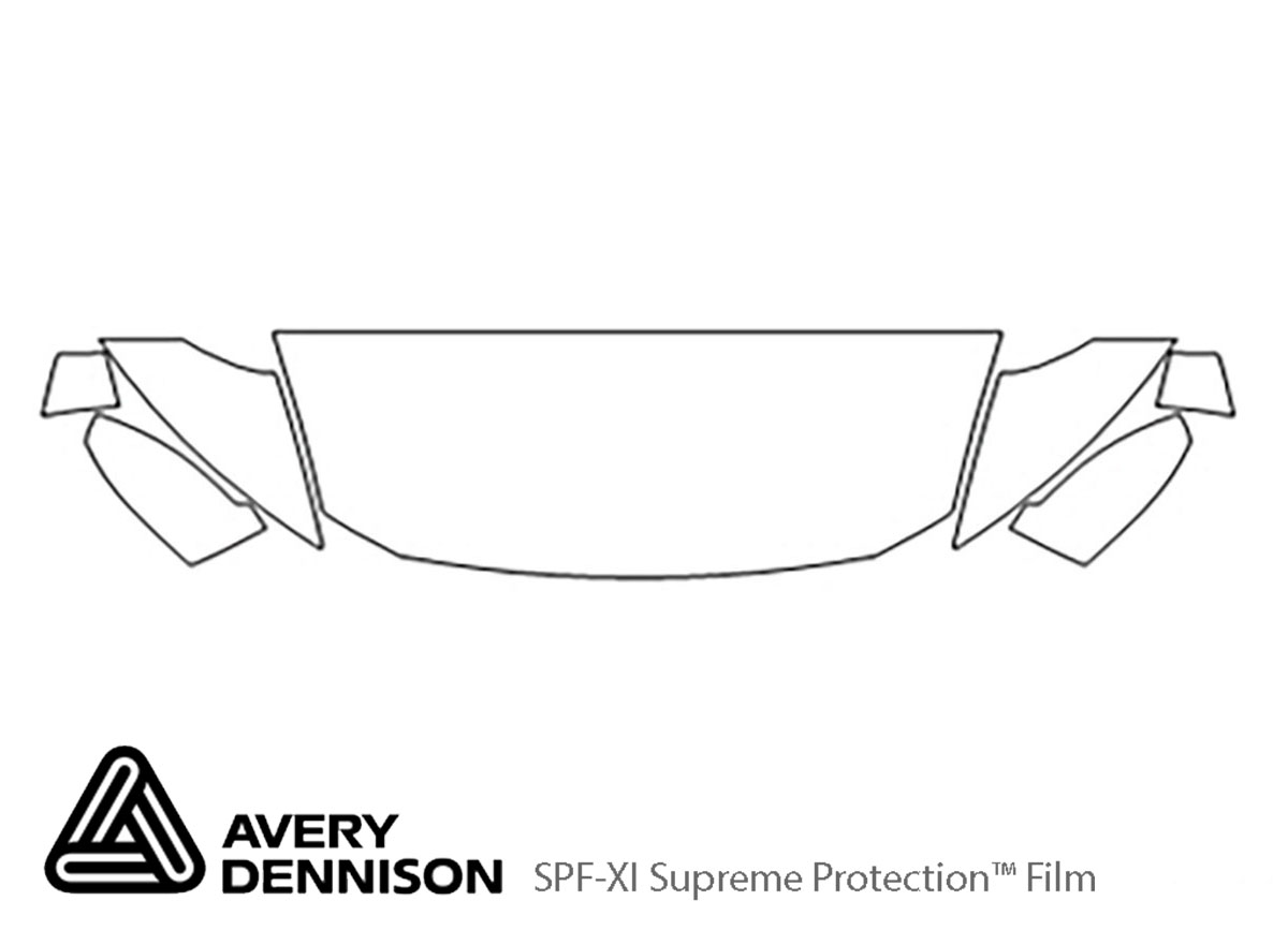 Honda CR-Z 2013-2016 Avery Dennison Clear Bra Hood Paint Protection Kit Diagram